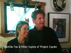 Camilla Fox and Peter Coyote of Project Coyote